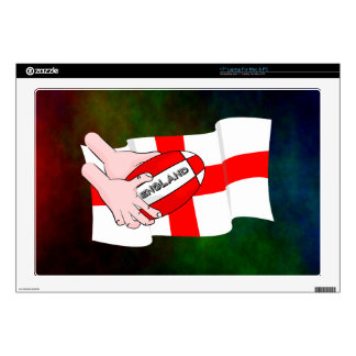 England Rugby Team Supporters Flag With Ball Laptop Decals