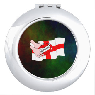 England Rugby Team Supporters Flag With Ball Makeup Mirror