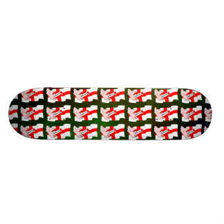 England Rugby Team Supporters Flag With Ball Skateboard Deck