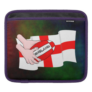 England Rugby Team Supporters Flag With Ball Sleeve For iPads