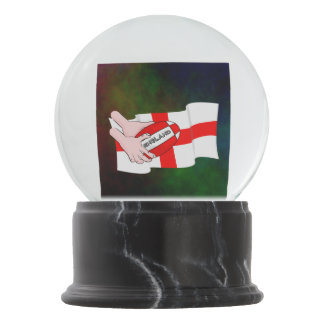 England Rugby Team Supporters Flag With Ball Snow Globe
