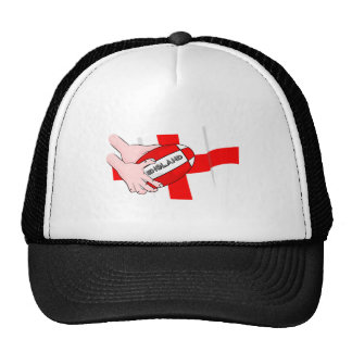 England Rugby Team Supporters Flag With Ball Trucker Hat