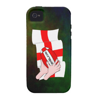 England Rugby Team Supporters Flag With Ball Vibe iPhone 4 Cases