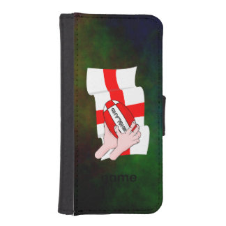 England Rugby Team Supporters Flag With Ball Wallet Phone Case For iPhone SE/5/5s