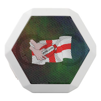 England Rugby Team Supporters Flag With Ball White Bluetooth Speaker