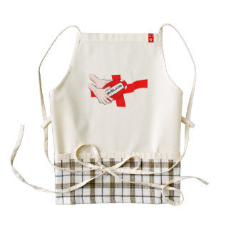 England Rugby Team Supporters Flag With Ball Zazzle HEART Apron