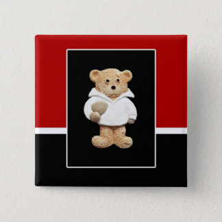 England Rugby Teddy Bear Button