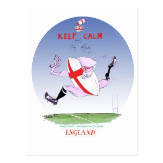 england rugby, tony fernandes postcard