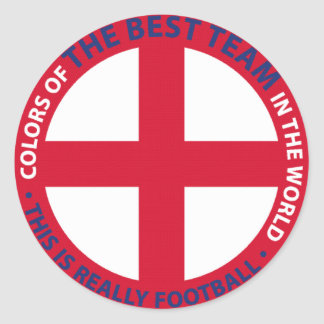 ENGLAND SHIELD CLASSIC ROUND STICKER