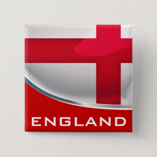 England Shield Pinback Button