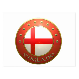 England shield postcard
