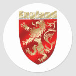 England Silky Shaded Rampant lion sheild Sticker