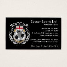 England Soccer 2016 Fan Gear Business Card at Zazzle