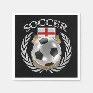 England Soccer 2016 Fan Gear Napkin