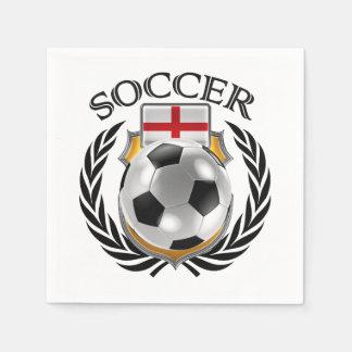 England Soccer 2016 Fan Gear Paper Napkin