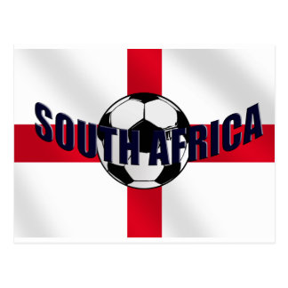 England Soccer ball South Africa St Georges flag Postcard