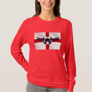 England Soccer ball South Africa St Georges flag T-Shirt