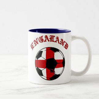 England soccer ball with St George flag Mugs
