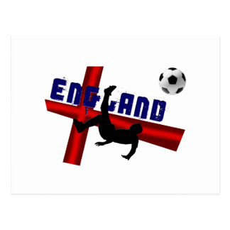 England soccer bicycle kick gift t-shirts and gear postcard