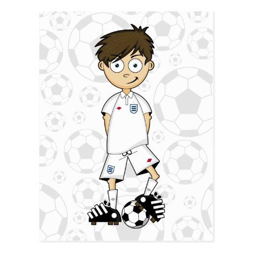 England Soccer Boy Postcard