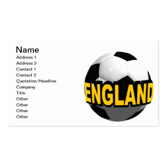 England Soccer Double-Sided Standard Business Cards (Pack Of 100)