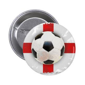 England Soccer 2 Inch Round Button