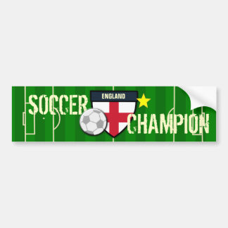 England Soccer Champion Bumper Stickers