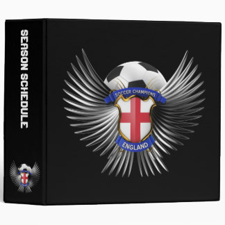 England Soccer Champions 3 Ring Binder