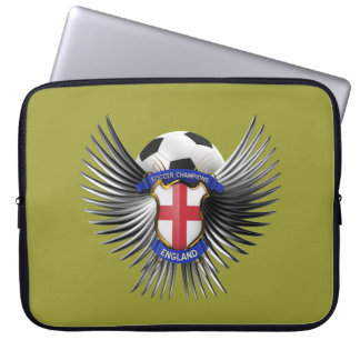 England Soccer Champions Laptop Computer Sleeves