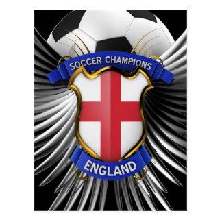 England Soccer Champions Postcard