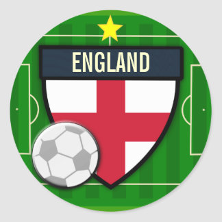 England Soccer Classic Round Sticker