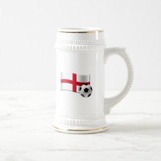 England soccer flag and ball coffee mugs