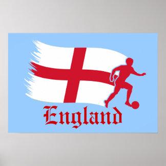 England Soccer Flag Poster