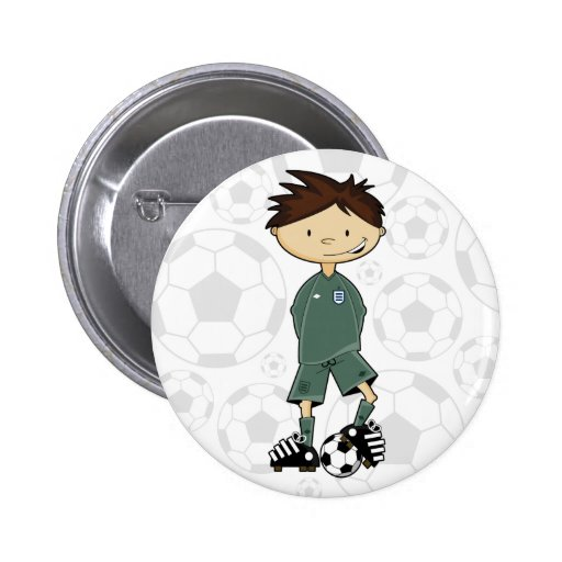 England Soccer Goalkeeper Badge 2 Inch Round Button
