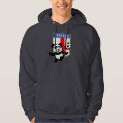 Men's Basic Hooded Sweatshirt with England Football Panda design