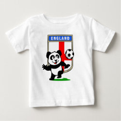 Baby Fine Jersey T-Shirt with England Football Panda design