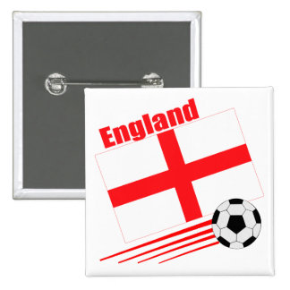 England Soccer Team 2 Inch Square Button