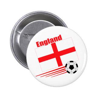 England Soccer Team 2 Inch Round Button