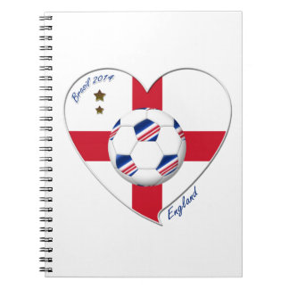 """""""ENGLAND"""" Soccer Team. Fútbol de Inglaterra 2014 Libretas"""