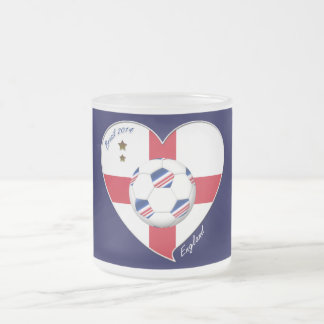 """ENGLAND"" Soccer Team. Soccer of England 2014 10 Oz Frosted Glass Coffee Mug"