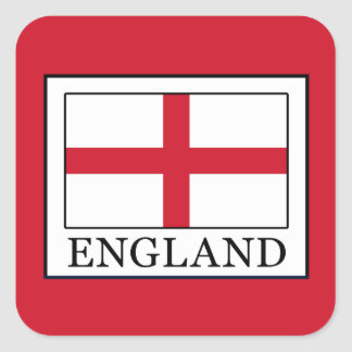 England Square Sticker