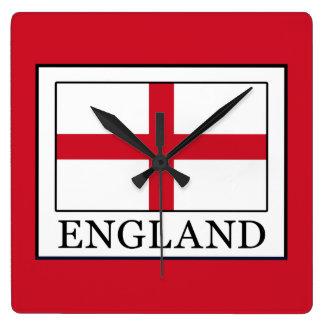 England Square Wall Clock