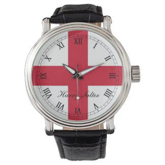 England ,St Georges Cross Flag. Wristwatch