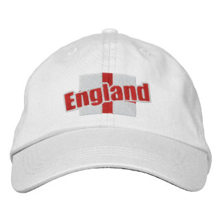 England St Georges Cross Patriotic Flag With Text Embroidered Baseball Hat