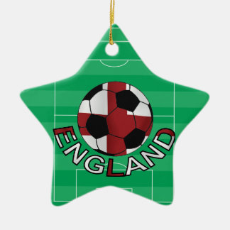 England st Georges cross soccer ball Christmas Ornament