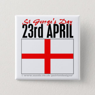 England, St George's Day Button
