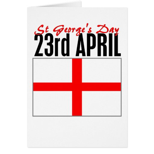 England, St George's Day Card