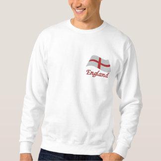England St Georges Flag Embroidered Sweatshirt