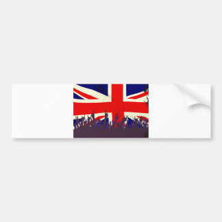 England State Flag with Audience Bumper Sticker