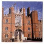 England, Surrey, Hampton Court Palace. 3 Large Square Tile